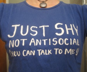 Just shy, not antisocial (you can talk to me!)